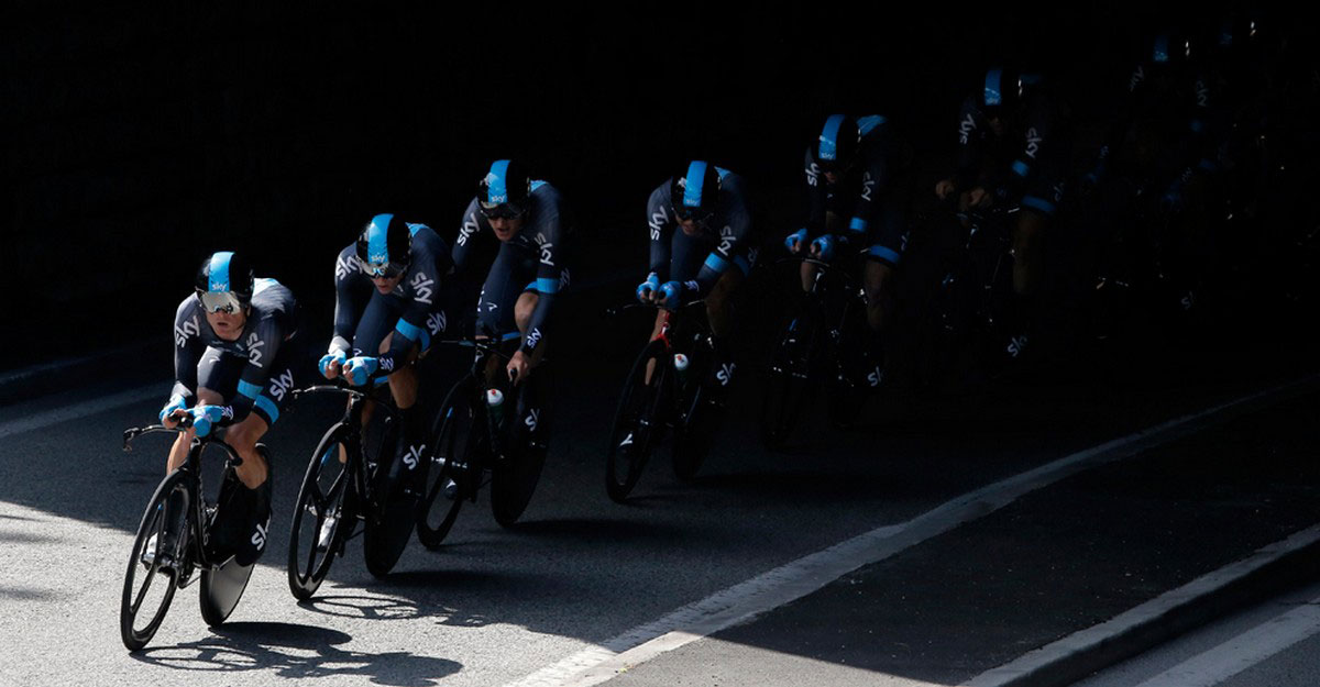 Команда Sky Procycling на четвертом этапе гонки