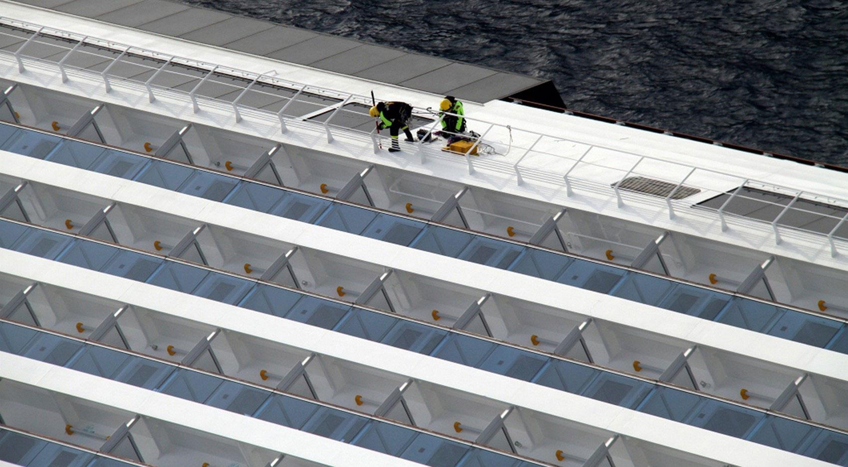 на круизном лайнере Costa Concordia, фото