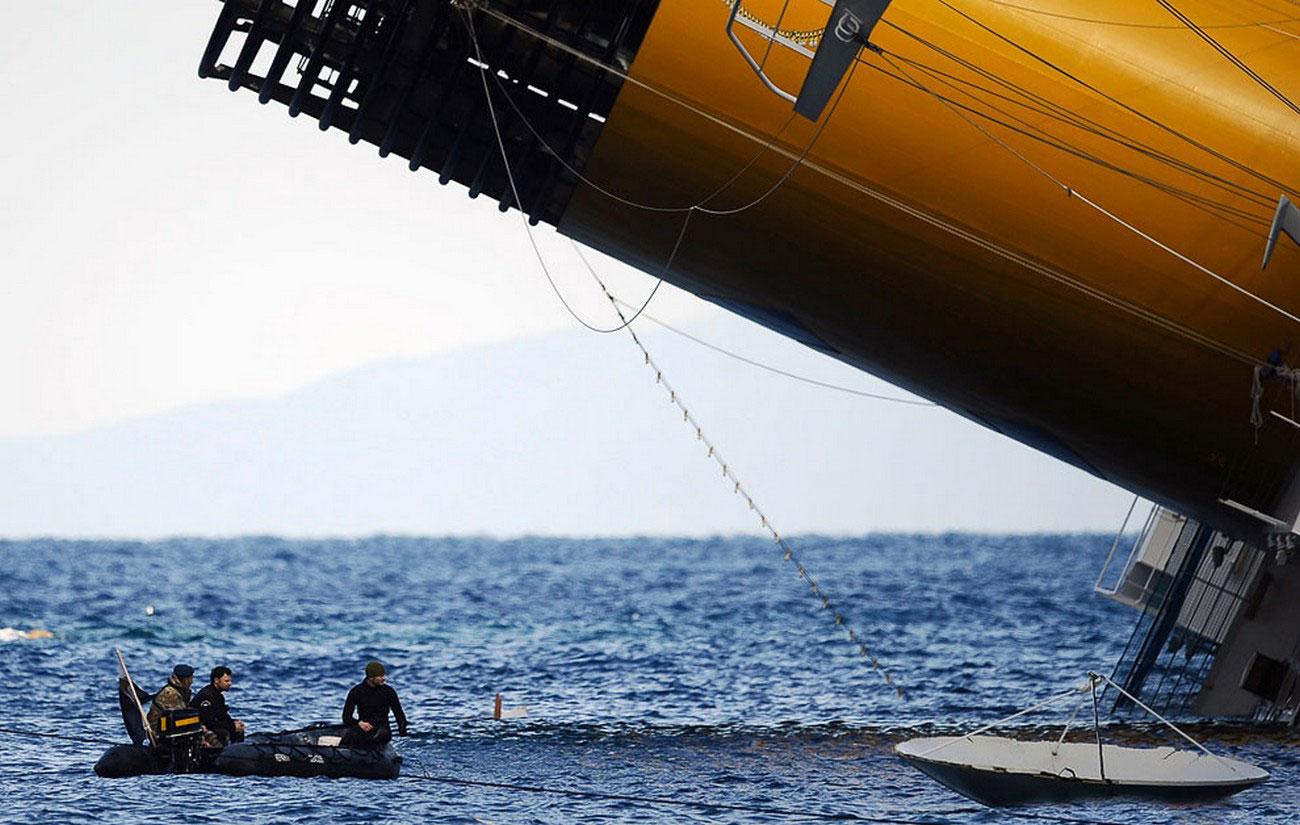 на месте падения судна, фото