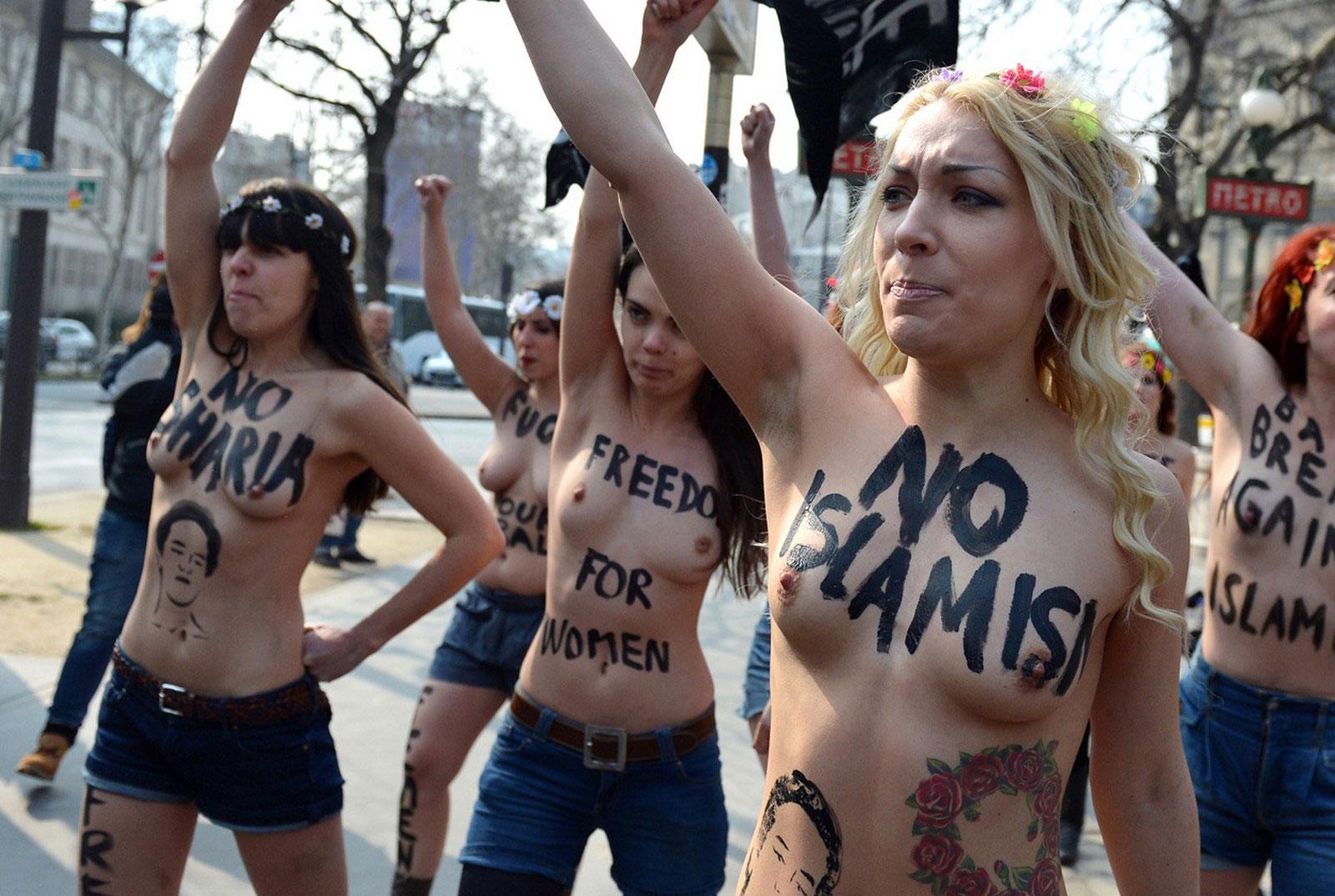 Украинская активистка женского движения