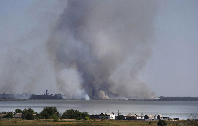 Обстрел города Новоазовска