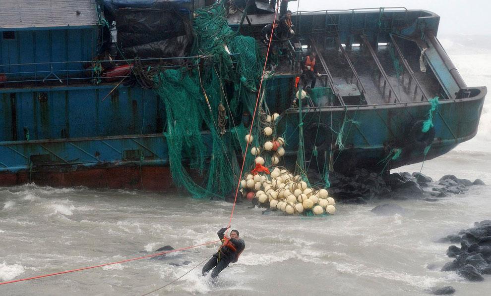 тайфун Bolaven в Южной Корее