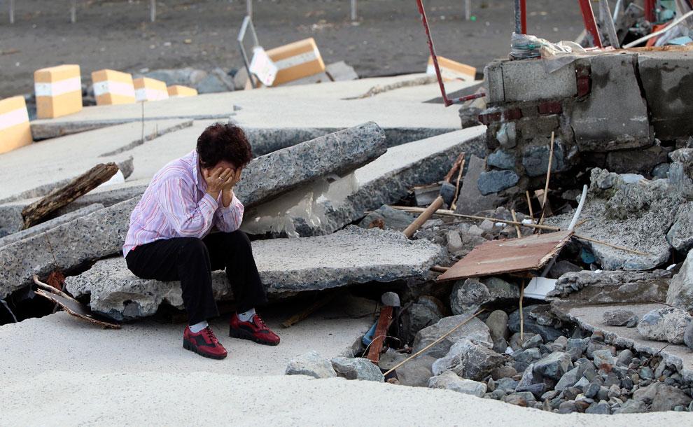 тайфун Sanba Южная Корея