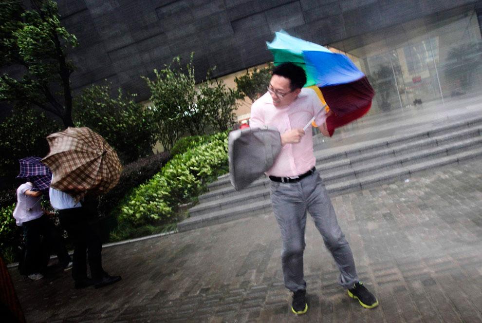 тайфун Haikui в Китае