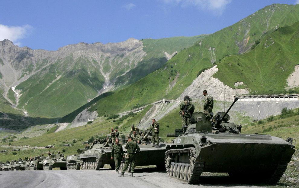 русские войска в Южной Осетии, фото