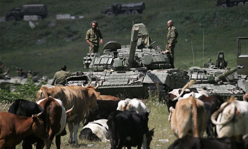 русские танки в Южной Осетии, фото