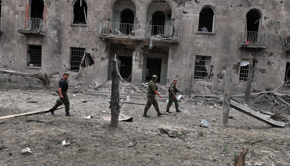 бомбардировка в Гори Грузия, фото