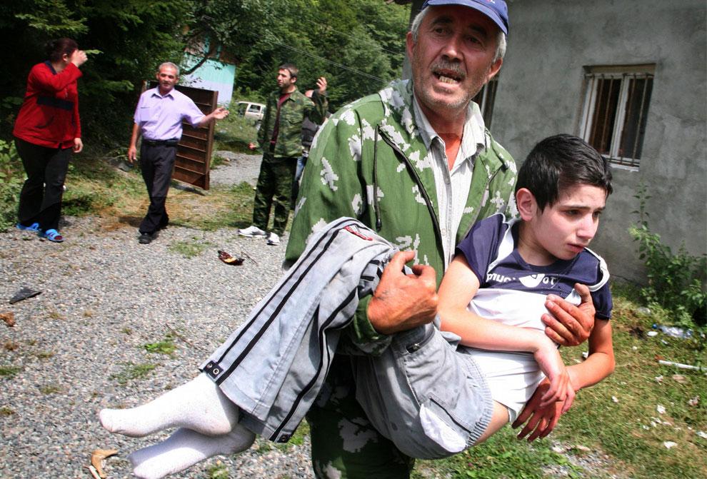 эвакуация из Южной Осетии, фото