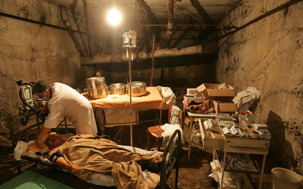 разрушенная больница в Цхинвале, фото