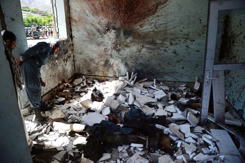 место взрыва