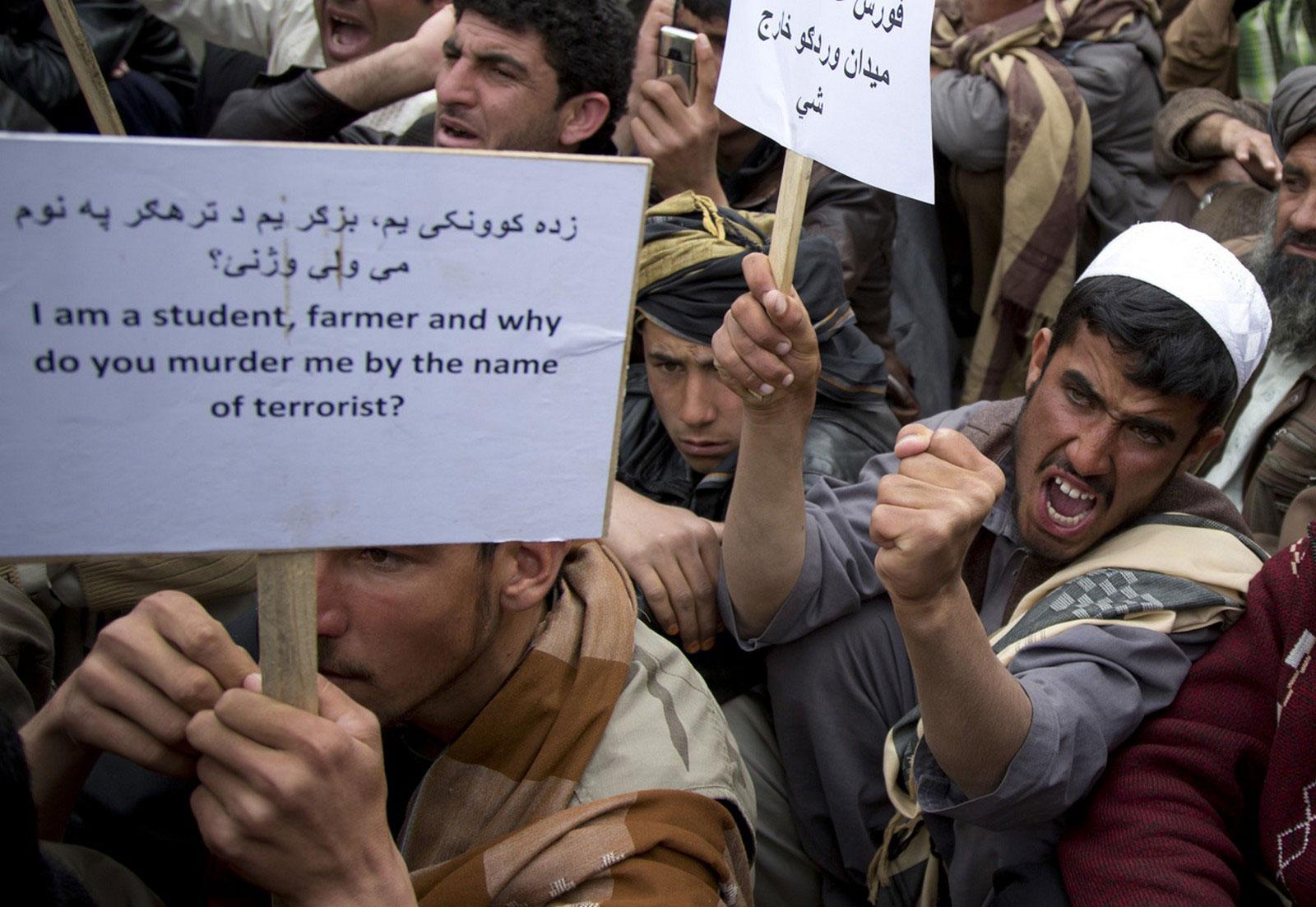 афганские демонстранты