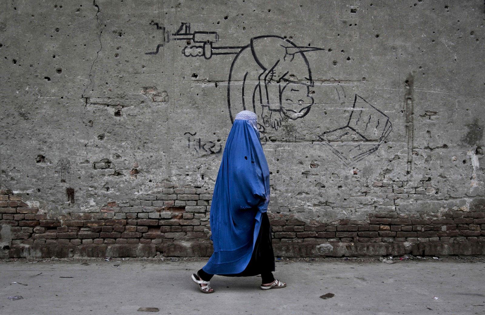 граффити с персидской письменностью