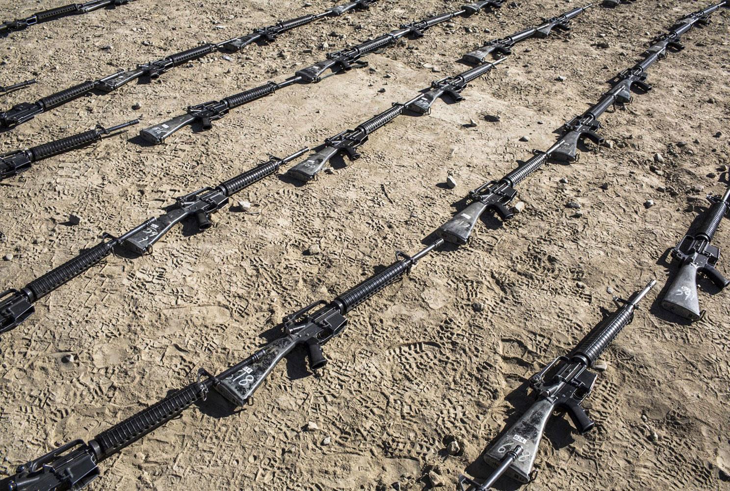 Американские автоматические винтовки М-16