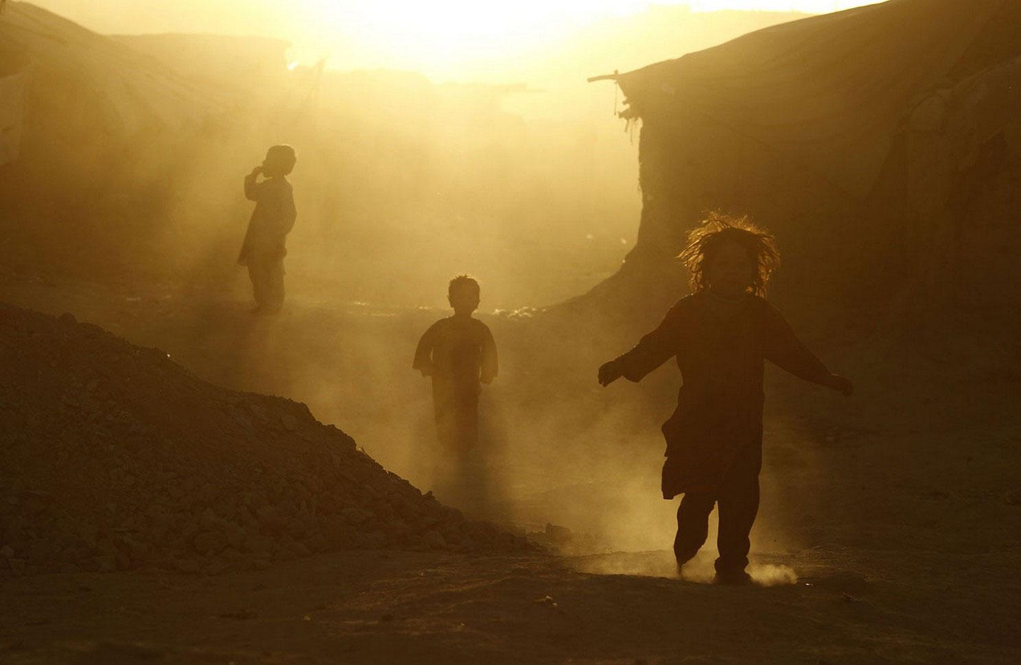 в лагере беженцев в Афганистане