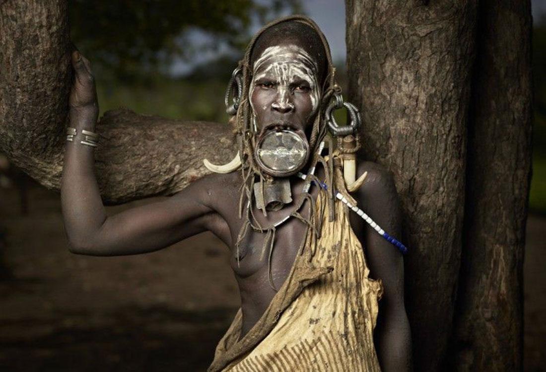 племя мурси, фото, Эфиопия, Африка