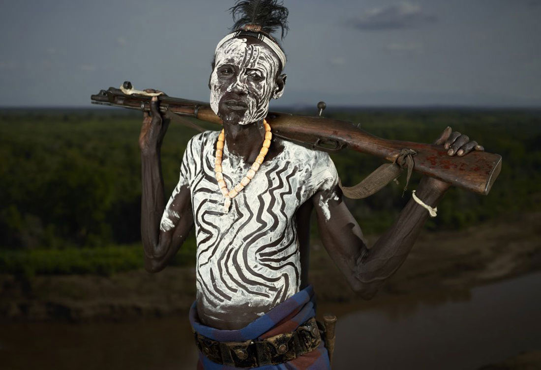 рисунки на теле племени, фото, Эфиопия, Африка