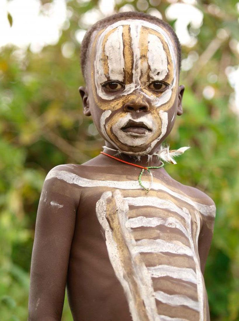 дети племен, фото, Африка