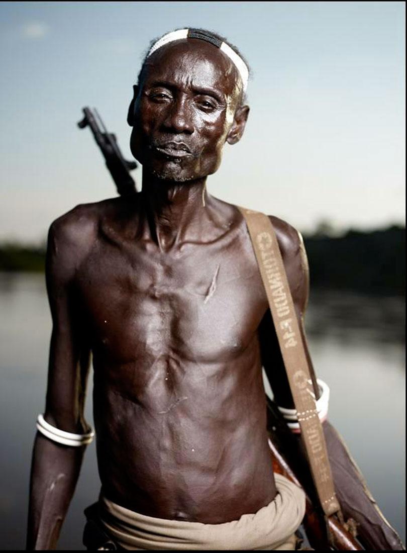 Вождь племени Каро, фото Африка