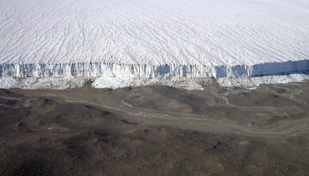 ледник на Земле Виктории в Антарктиде, фото
