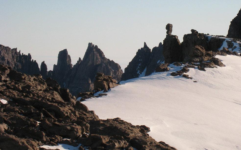 в горах Пенсакола в Антарктиде, фото