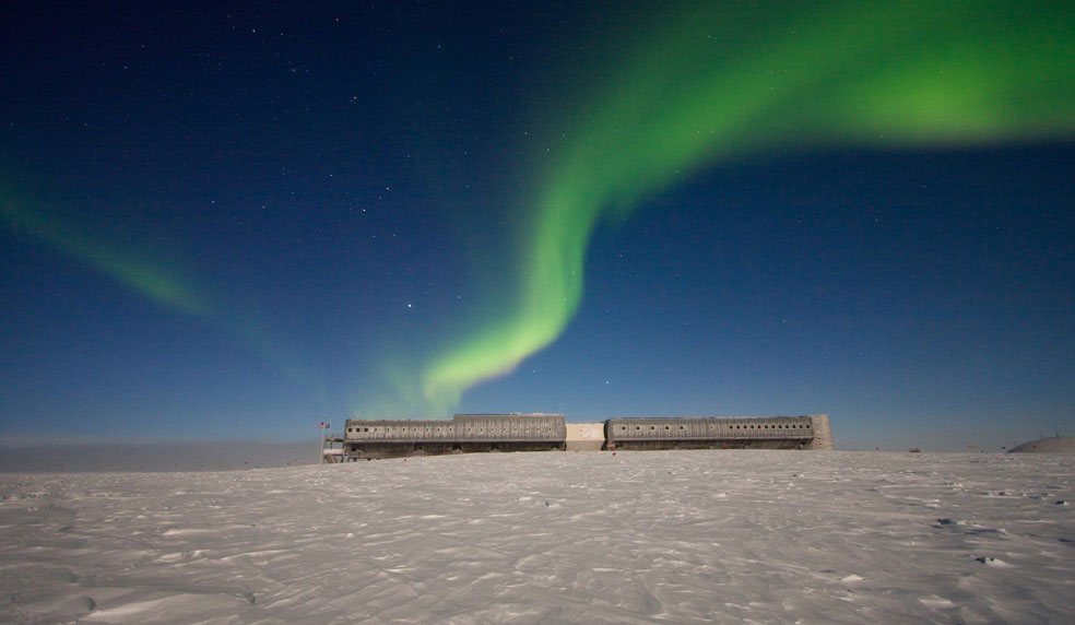 Полярное сияние в Антарктиде, фото