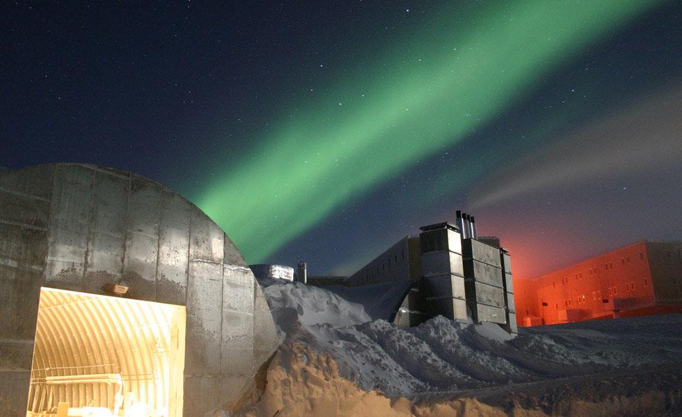 Станция Амундсен-Скотт на Южном полюсе, Антарктида, фото