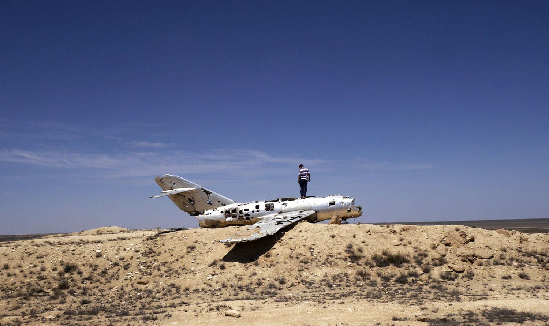 останки истребителя МиГ-15