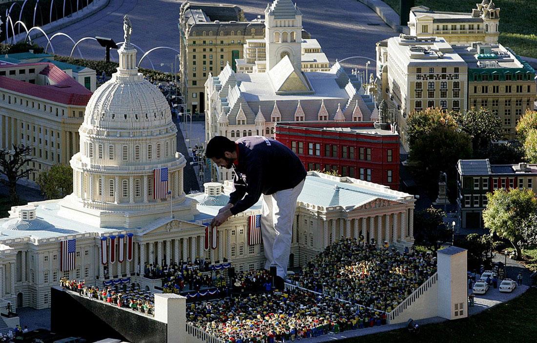подготовка сцены к инаугура́ции, фото США