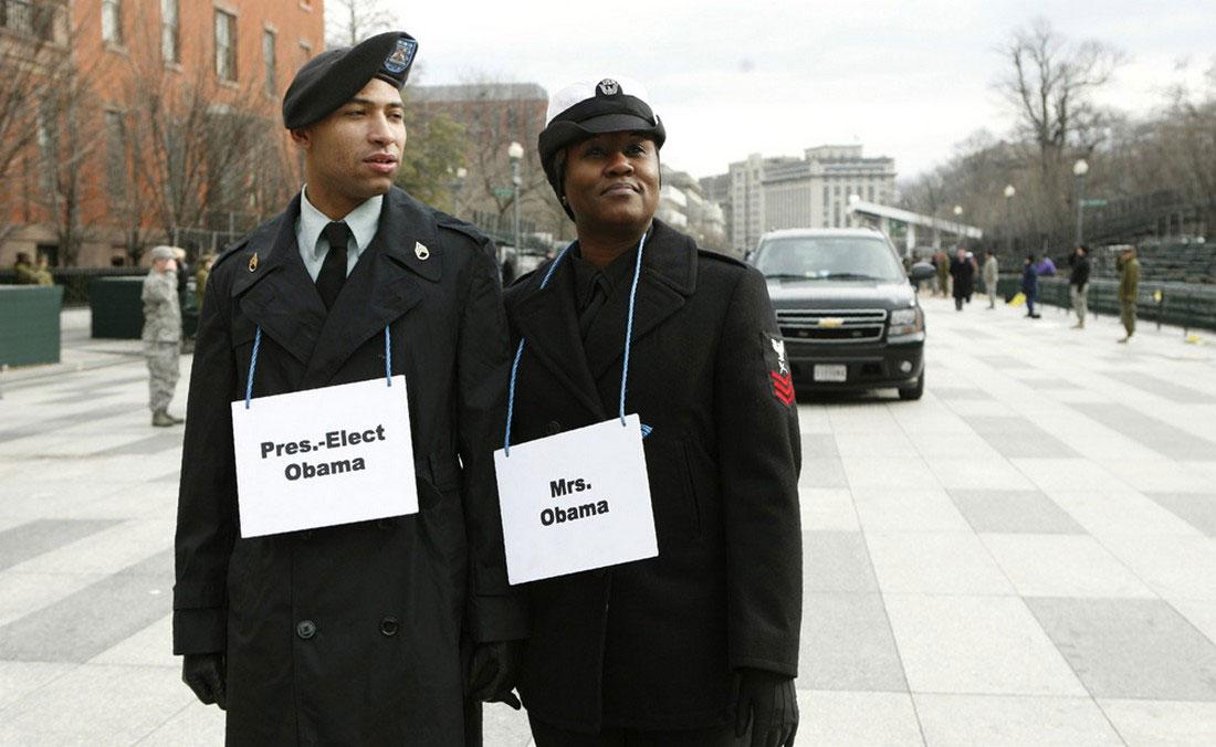 во время репетиции парада инаугура́ции президента, фото США