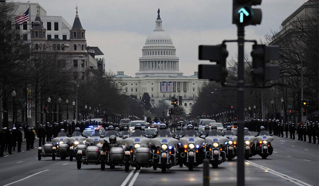 полиция на параде Барака Обамы, фото США