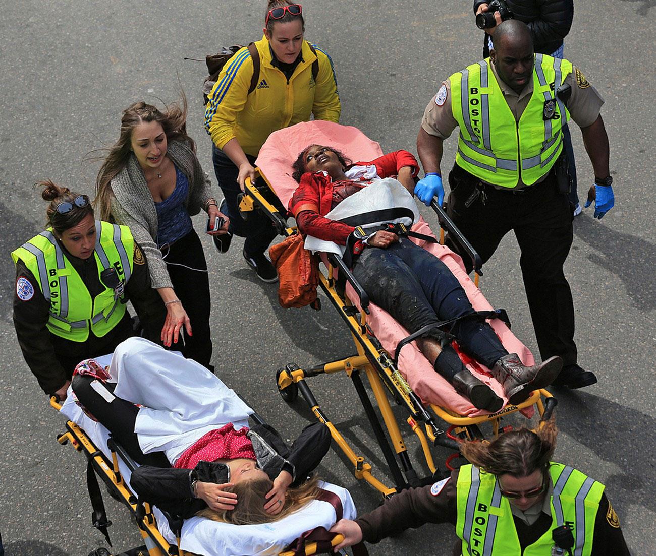 раненые зрители марафона