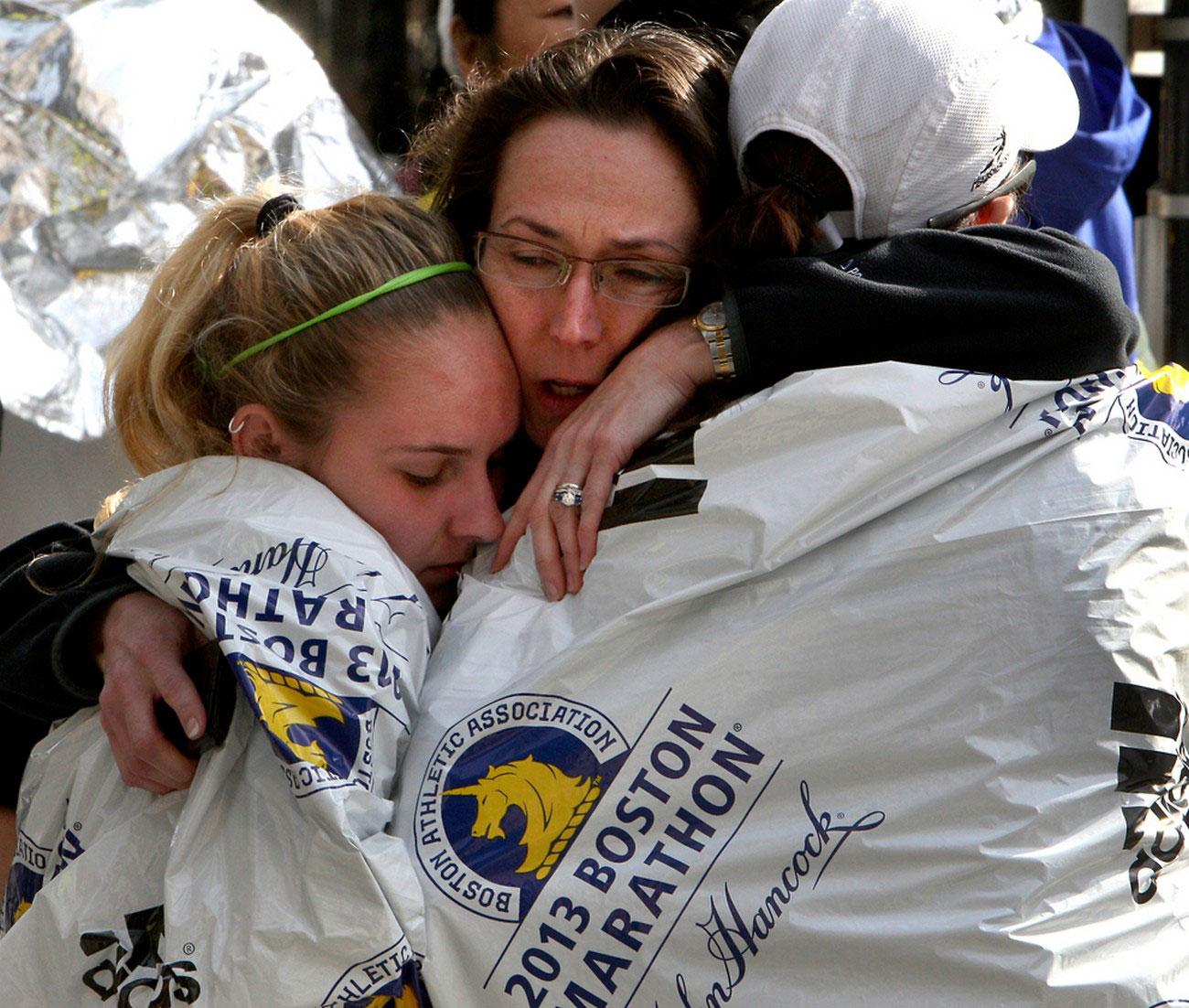 бегунья нашла семью после трагедии на бостонской площади