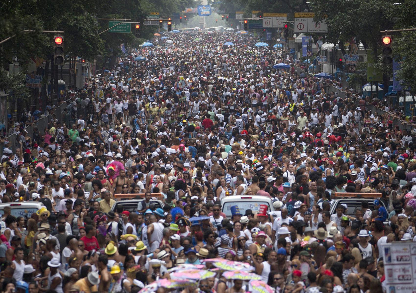 уличный парад в Рио, фото