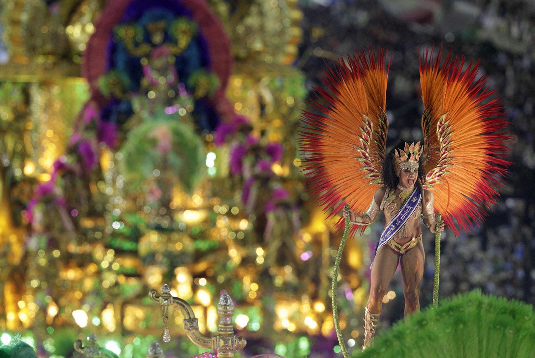 на бразильском карнавале в Рио, фото