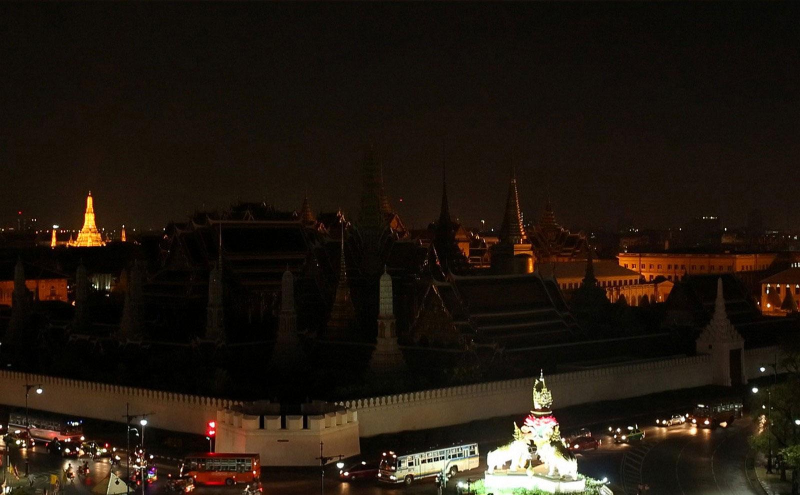 Grand Palace в Бангкоке, час Земли
