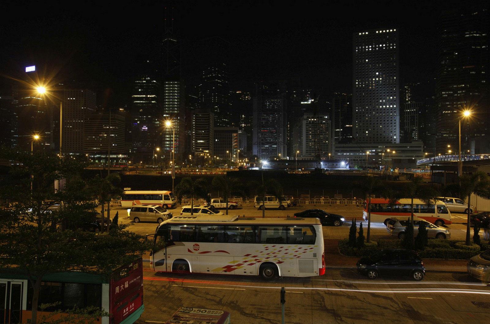 Вид на район Гонконга