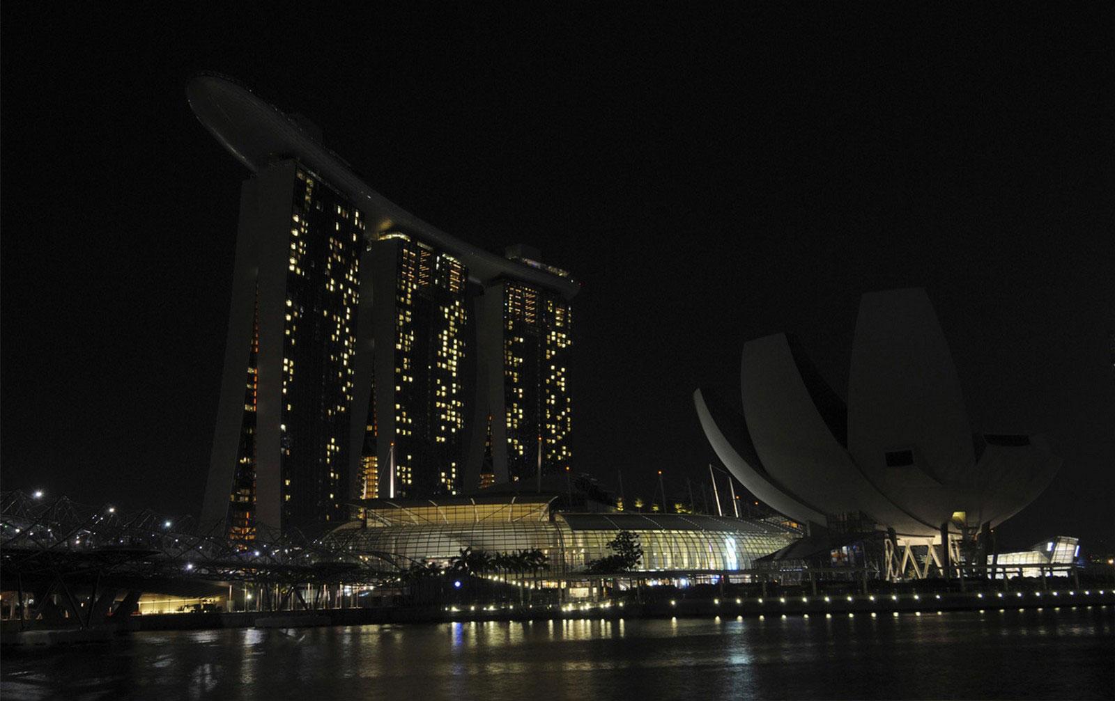 Marina Bay Sands и ArtScience, фото Сингапура