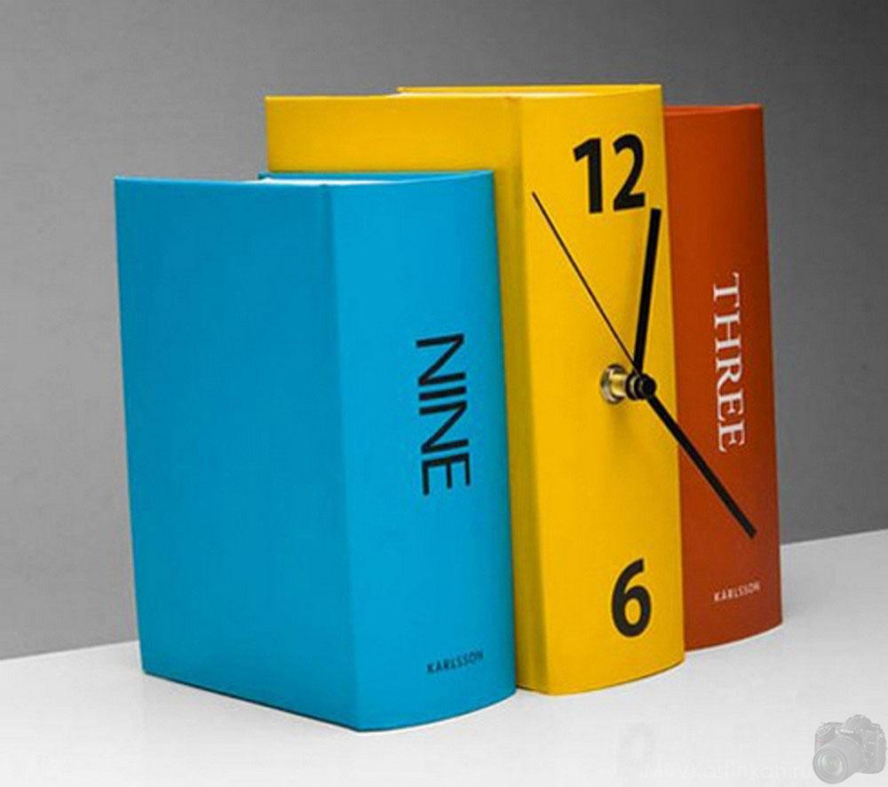 часы-книги