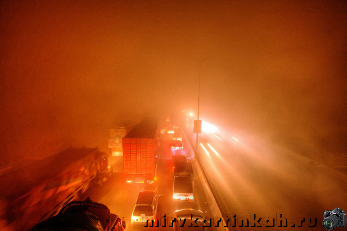 Густой туман