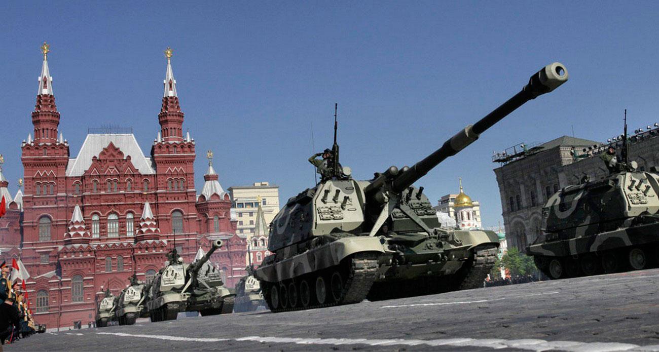 самоходно-артиллерийская установка на Дне Победы, фото