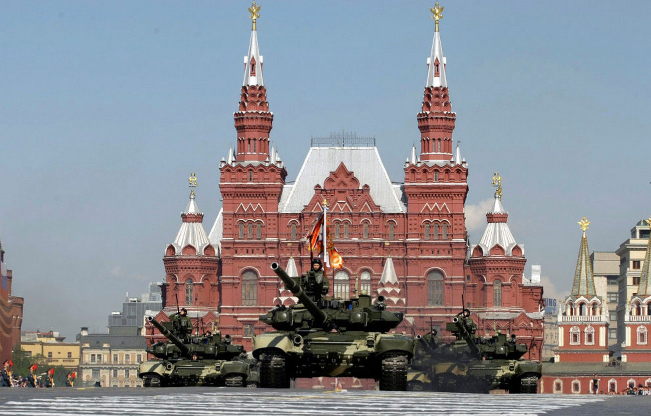 Российские танки Т-90 в Москве