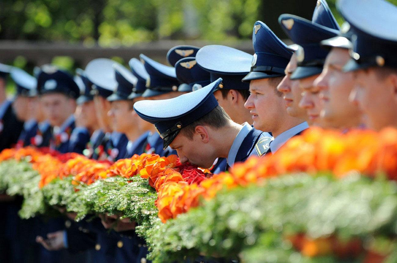Белорусские солдаты на Дне Победы