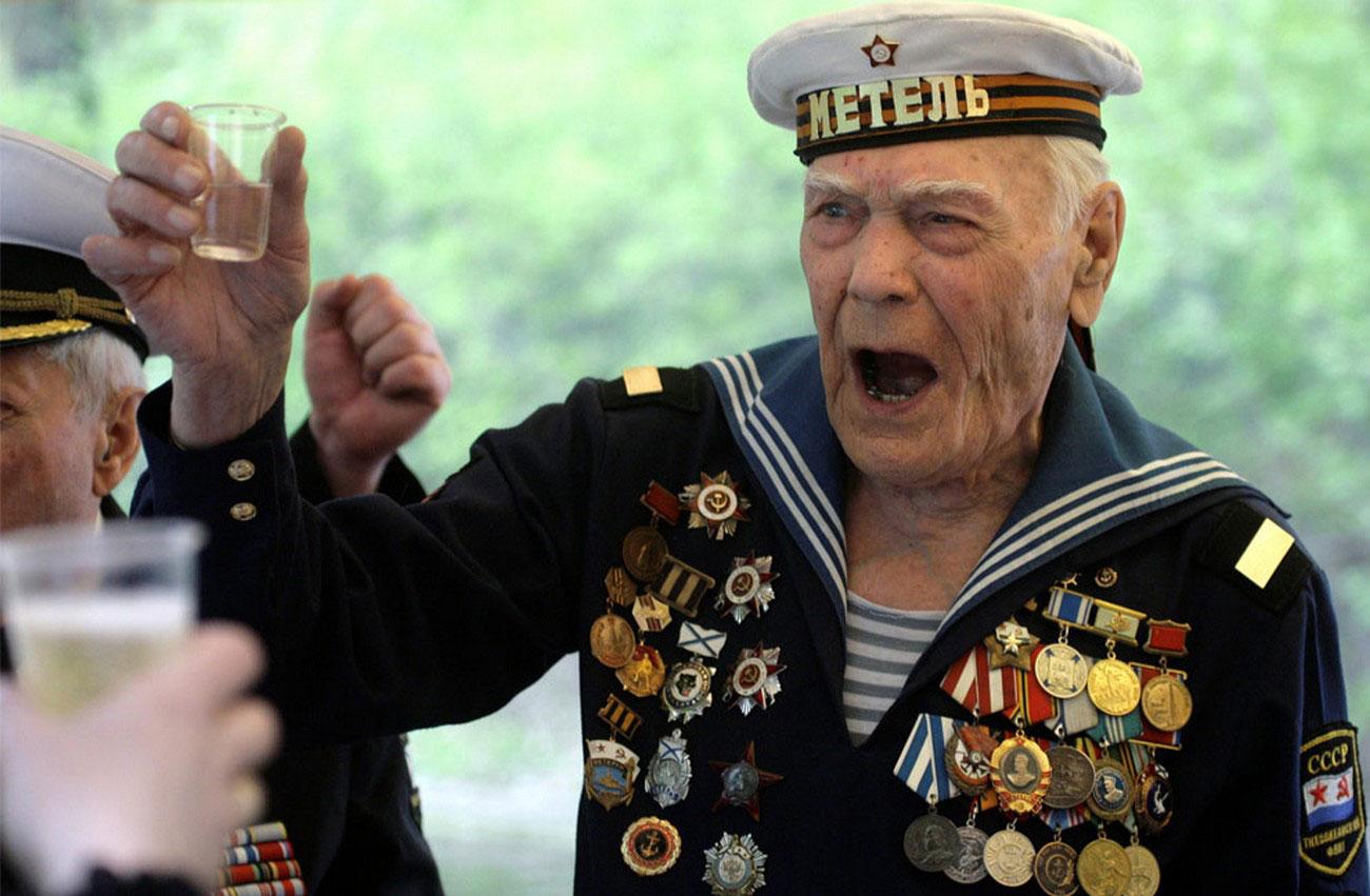 Ветеран Второй мировой войны 9 мая на Красной площади