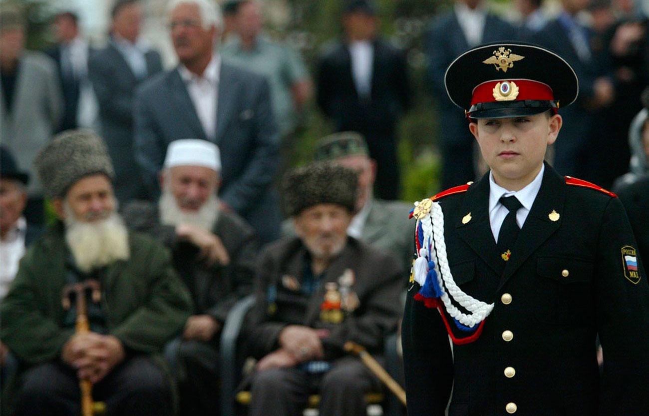 кадет на параде Победы 9 мая