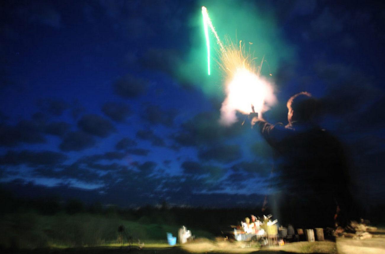 Фейерверк в честь Дня Победы