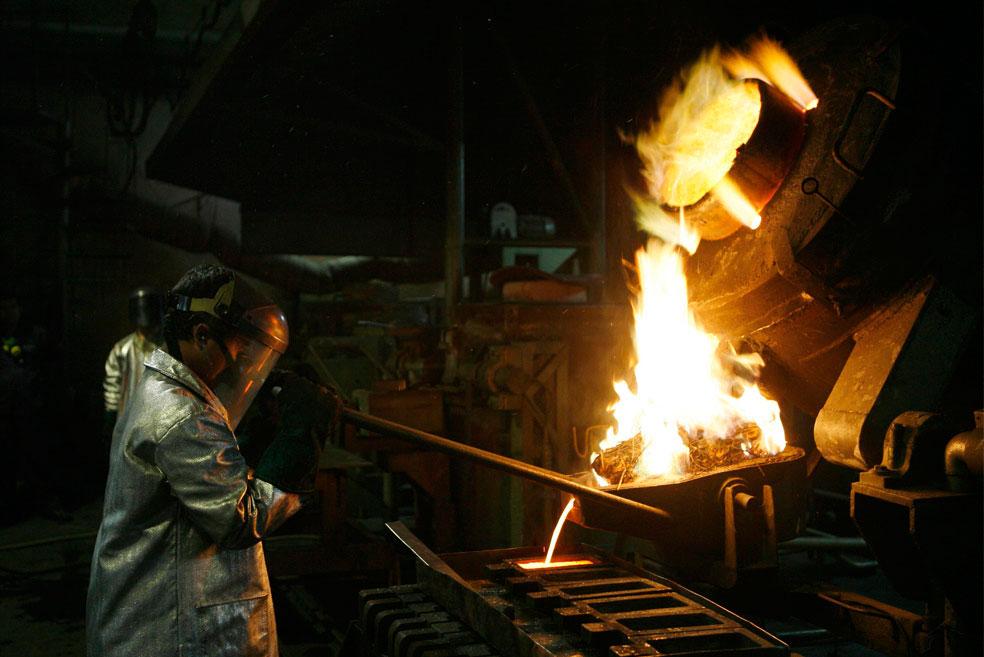 обработка цветных металлов, фото из Индонезии