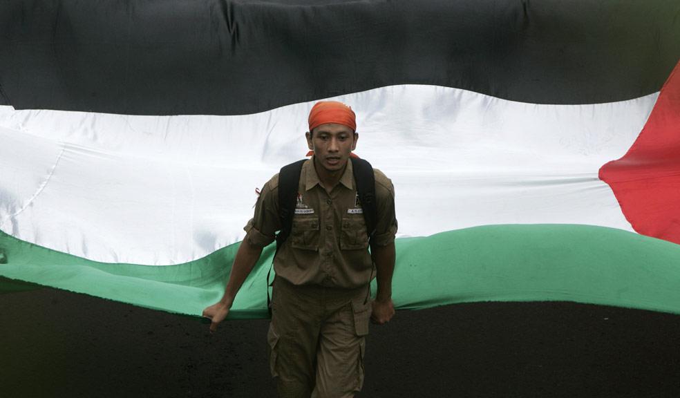 Член исламской политической партии, фото из Индонезии