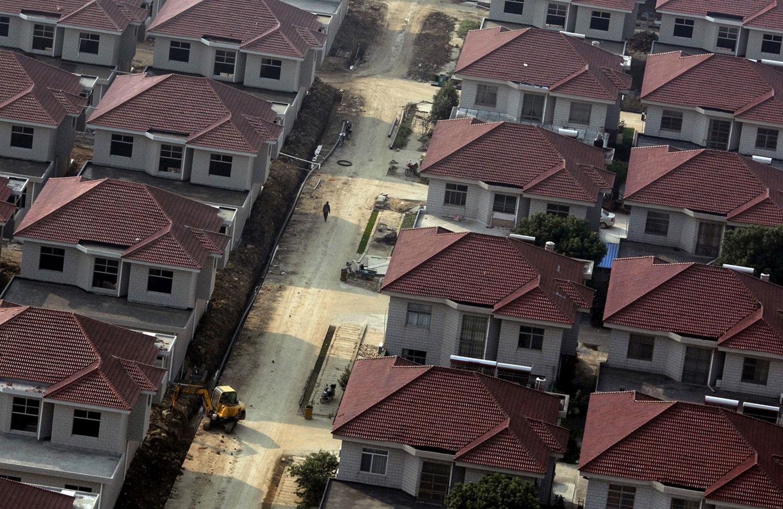 Строящиеся дома в Китае, фото архитектуры