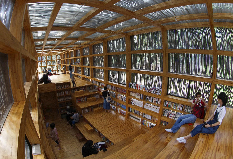 библиотека китайского архитектора, фото