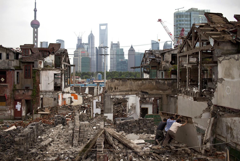 центр Шанхая, фото стройки